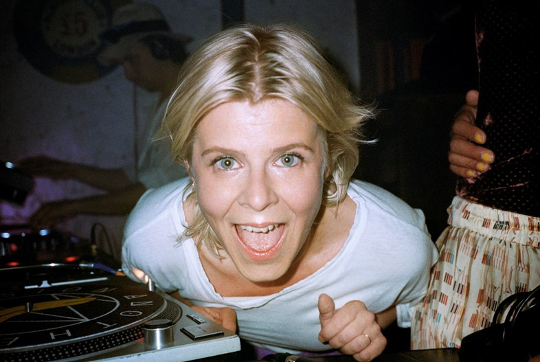 Robyn on the decks at Pikes in Ibiza