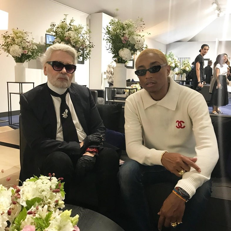 pharrell williams Chanel karl Lagerfeld collaboration