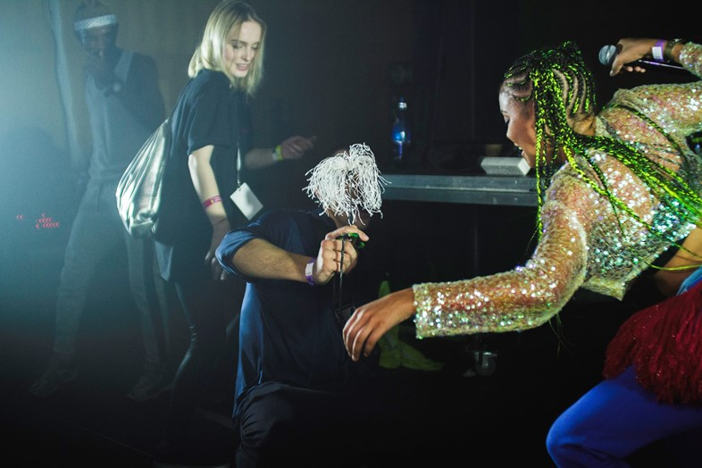 Sho Madjozi and DJ Lag performing at Unsound, 2018