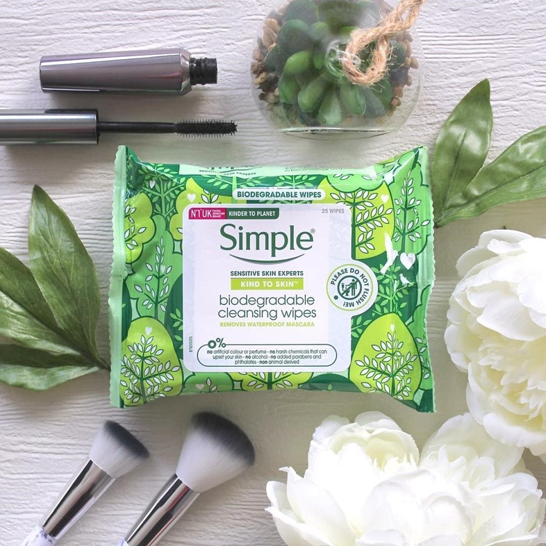 Simple launches first-ever high street biodegradable face wipes