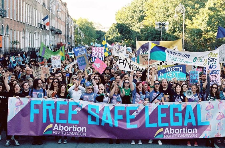 Abortion Rights Campaign at March for Choice, 2018