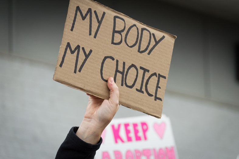 Pro-choice protest abortion sign