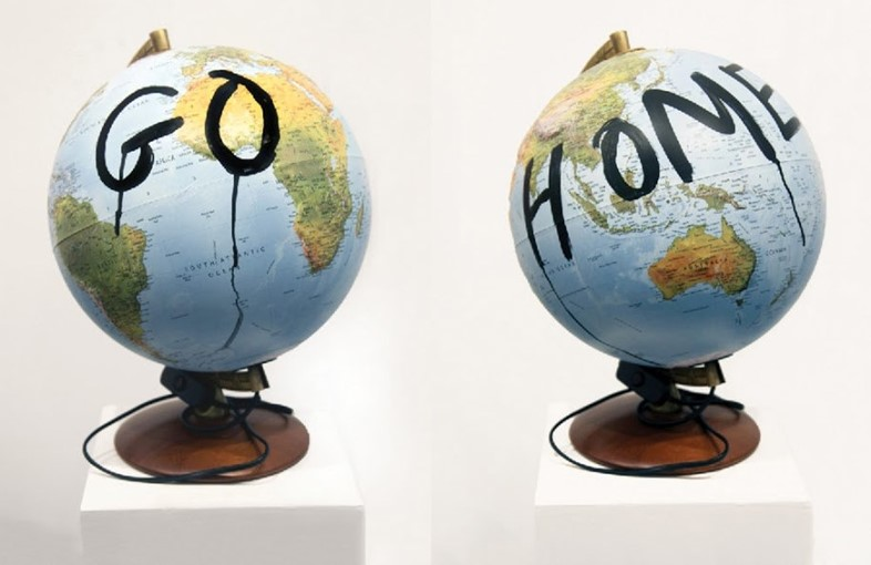 Sarah Maple - Go Home - Thoughts and Prayers Exhib