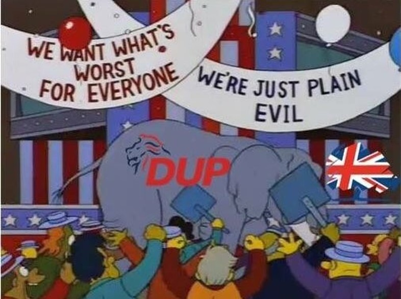 Ireland Simpsons Fans meme page