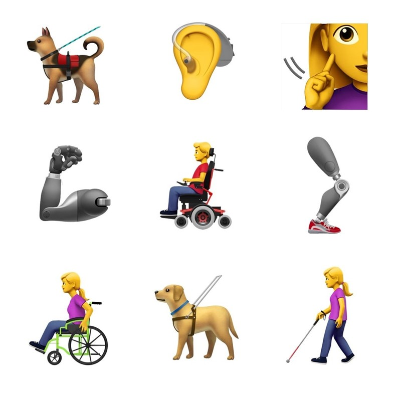 Finally, inclusive emojis representing people with disabilities are here
