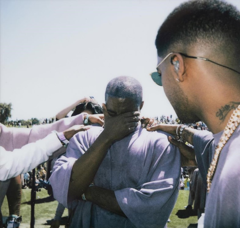 Kanye West cries at his Coachella Sunday Service