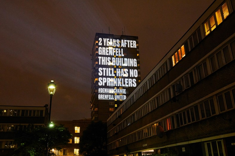 Grenfell United projections London