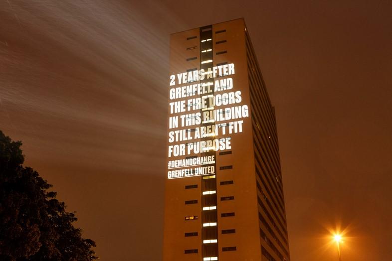 Grenfell United projections Newcastle