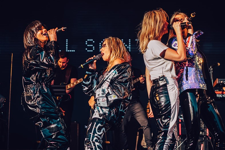 All Saints on stage at London's Mighty Hoopla festival