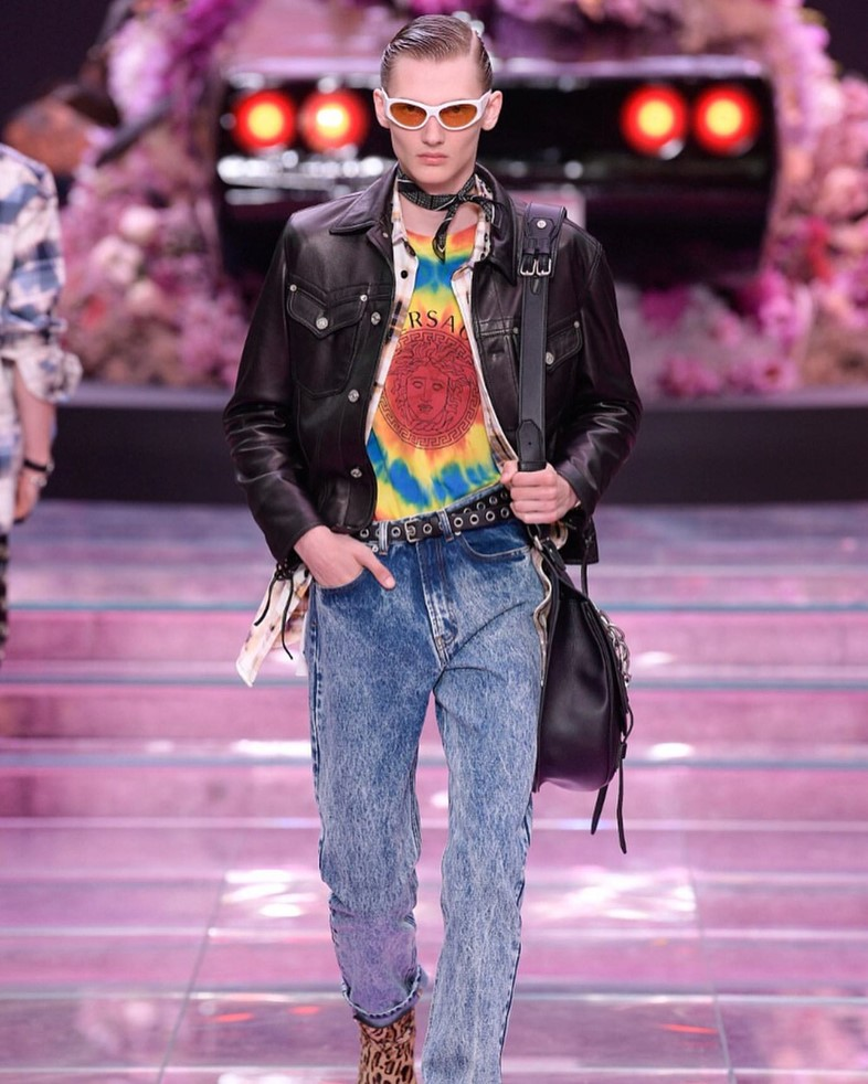 Versace menswear SS20 new wave rave 90s