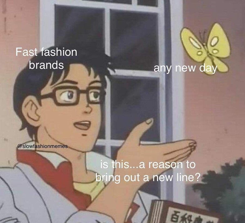 @slowfashionmemes fast fashion meme