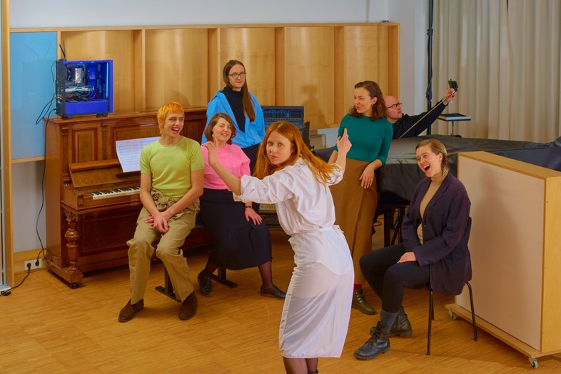 Holly Herndon and her vocal ensemble