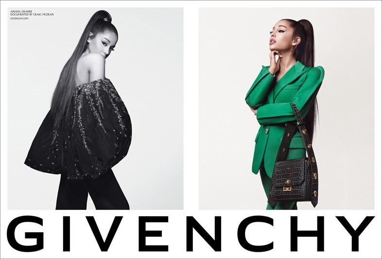 Best pop star fashion campaigns Givenchy Ariana Grande