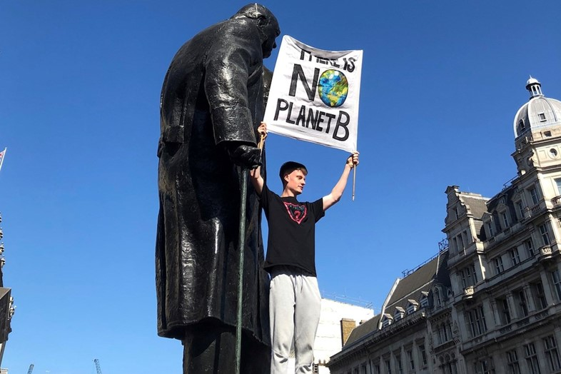 climate protest UK election