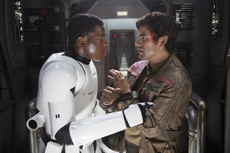 Poe and Finn in Star Wars: The Force Awakens