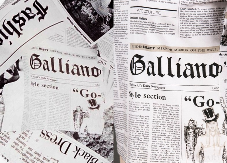 PrettlyLittleThing vs Galliano newspaper print
