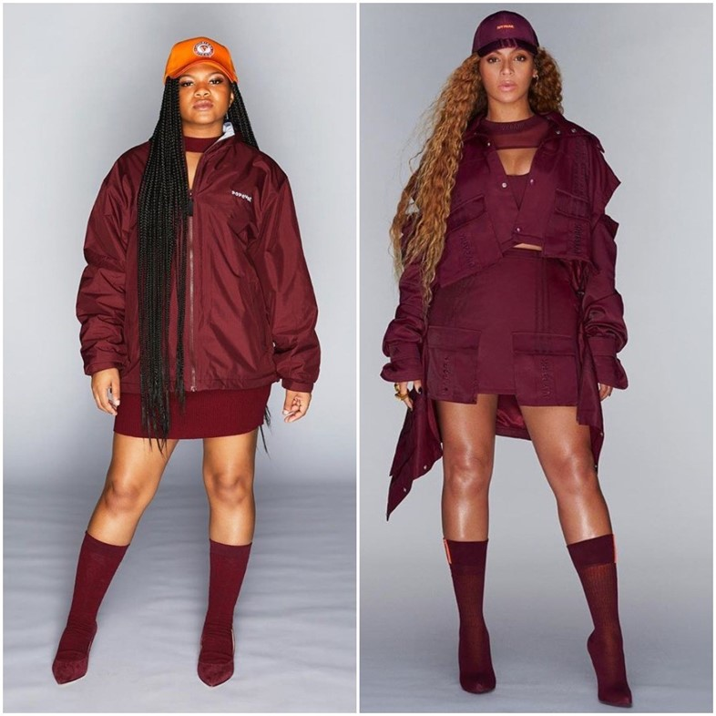 Beyoncé ivy park and popeyes clothing collection