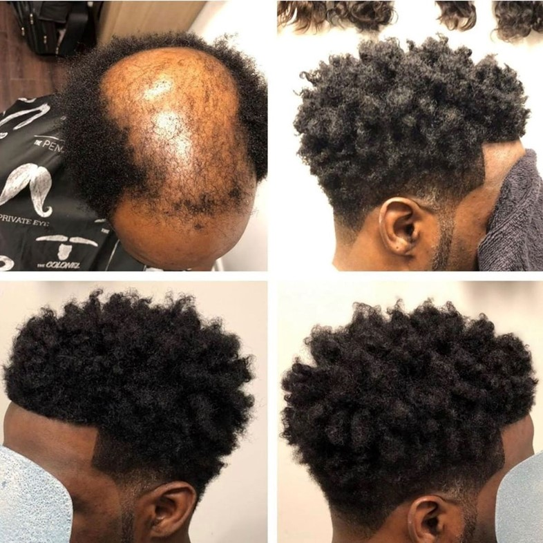 Male weaves before and after