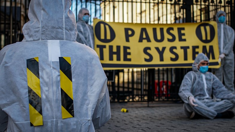 Pause the System coronavirus protest 3