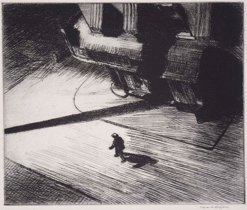 "Edward Hopper, ""Night Shadows ""(1922)"