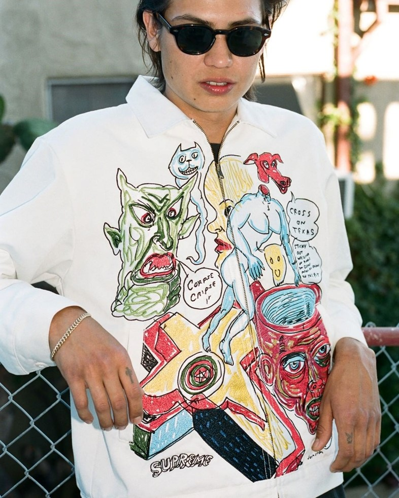 Supreme x Daniel Johnston collection illustrations