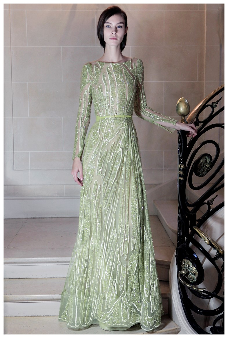 Elie Saab, Full length Haute Couture gown with thi