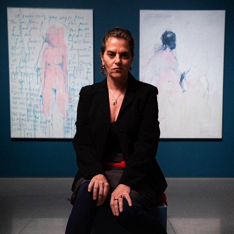 Tracey Emin at the Royal Academy