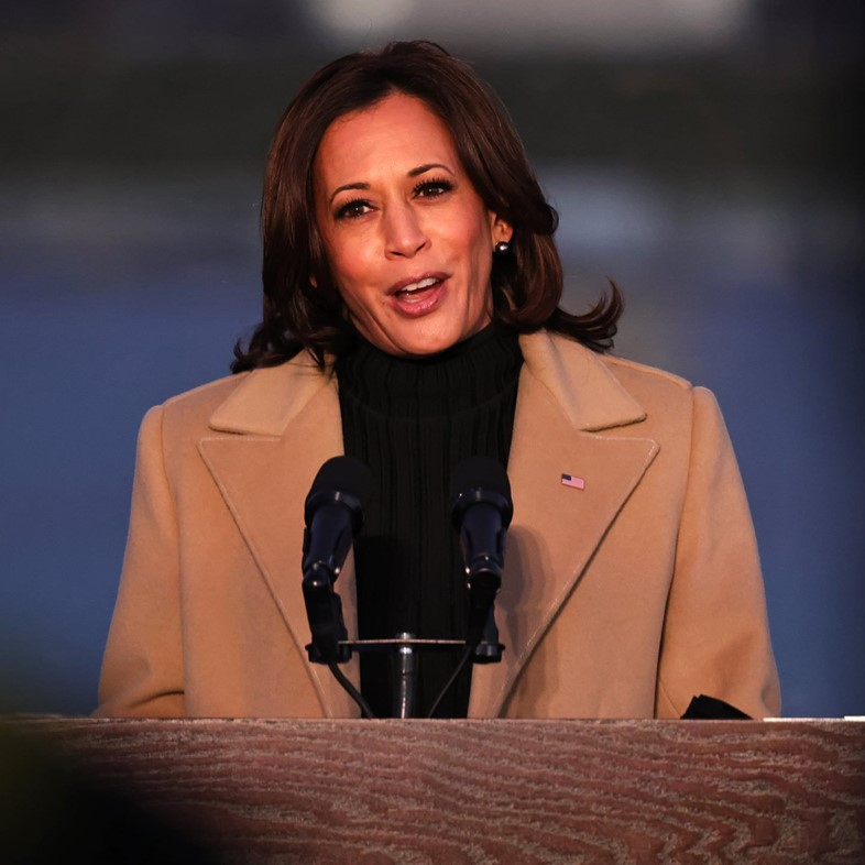 Kamala Harris wears Pyer Moss for COVID-19 memorial