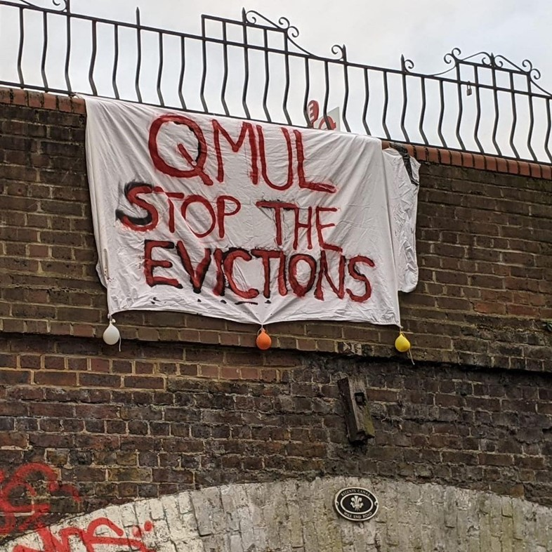 Queen Mary University of London rent strike