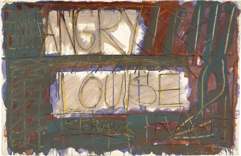 """Louise Fishman, """"Angry Louise"""" (1973)"""