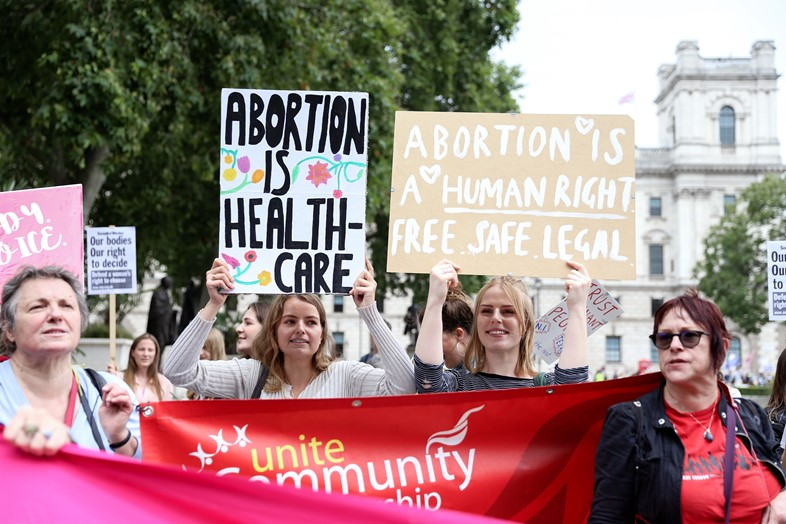 Texas abortion ban protest in London 5