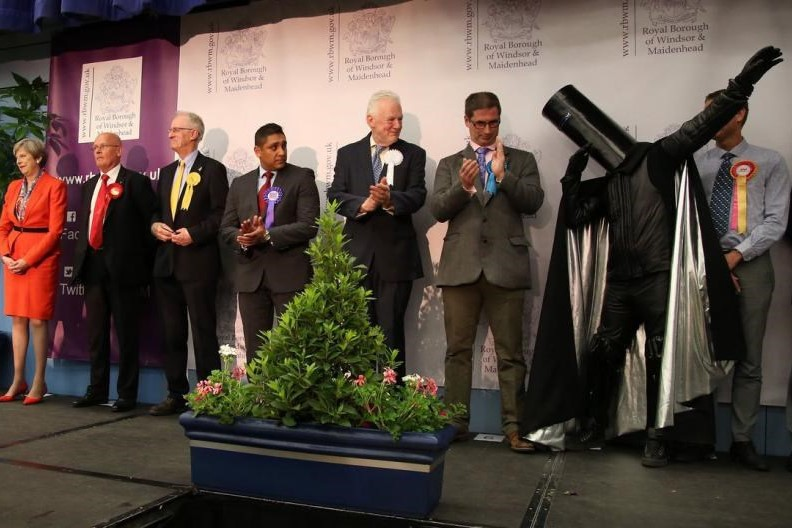 Lord Buckethead, the space warrior who ran against Theresa May, retires