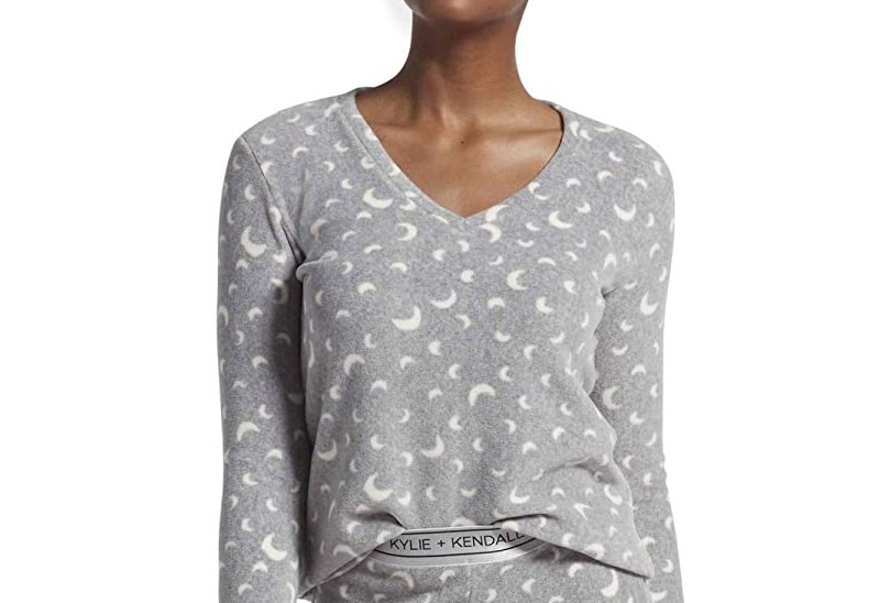 Kendall and Kylie Jenner moon print PJs
