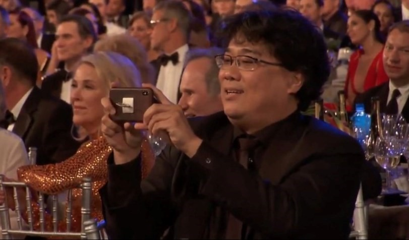 Parasite wins another award, gets a standing ovation from Hollywood