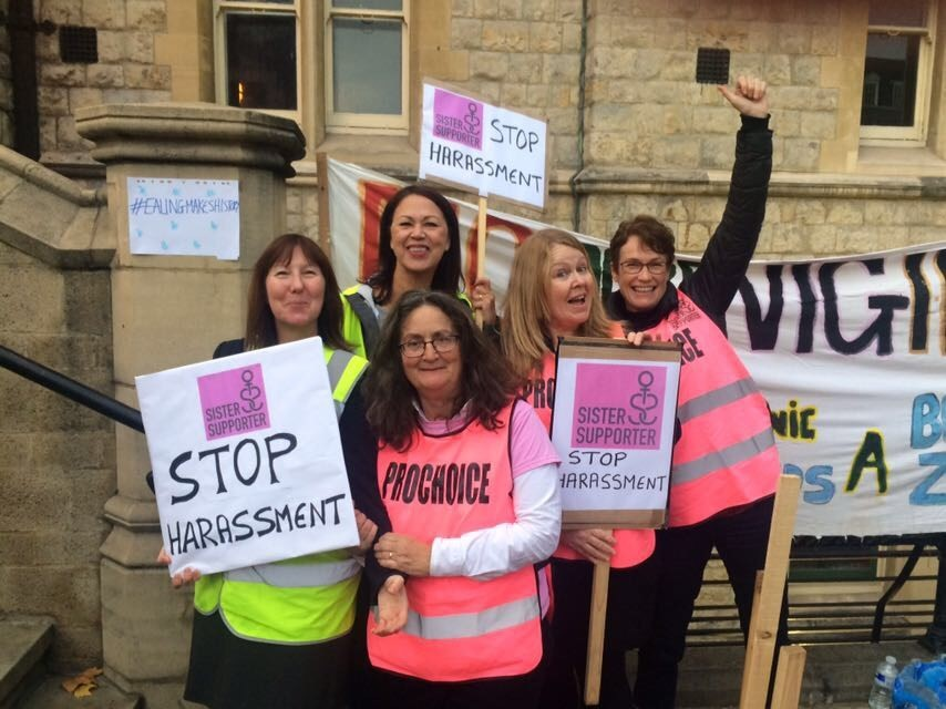 Sister Supporter 'stop harassment' protest