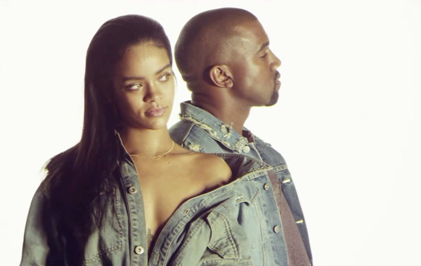 Rihanna and Kanye West in FourFiveSeconds video