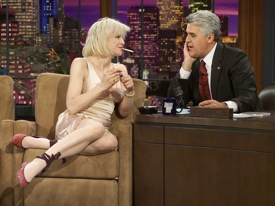 courtney love on jay leno