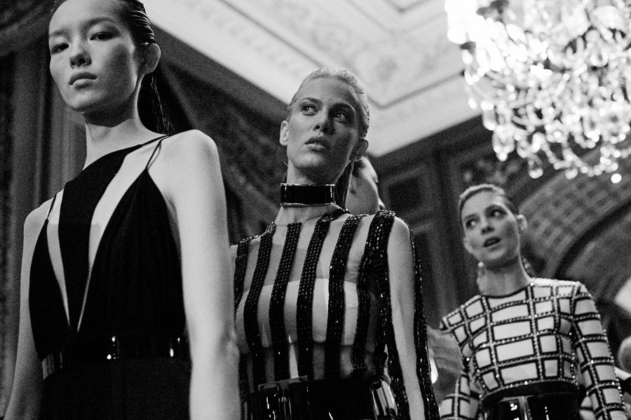 Balmain SS15, womenswear, Dazed backstage