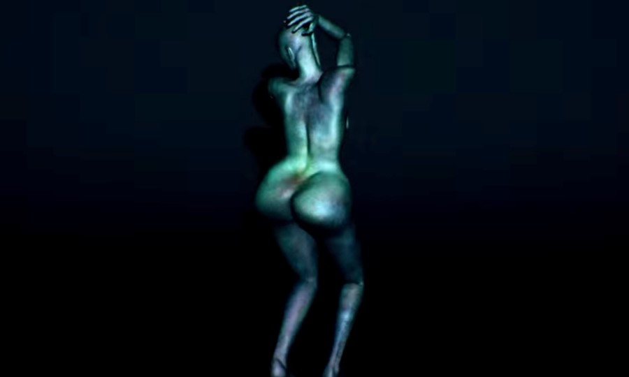 Still from Arca's Thievery music video