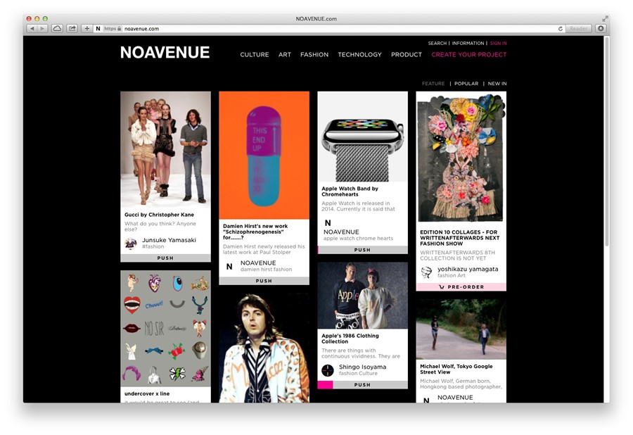 NOAVENUE homepage