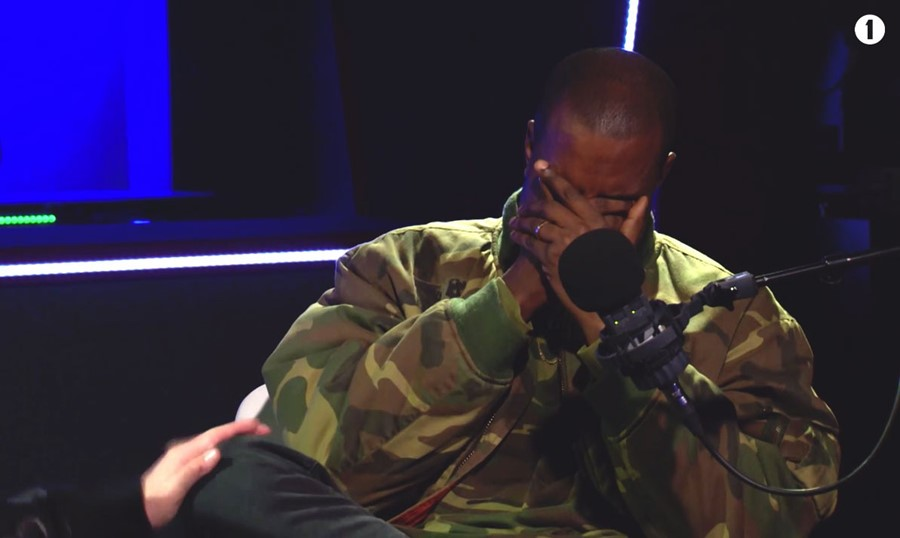 Kanye West crying Zane Lowe show