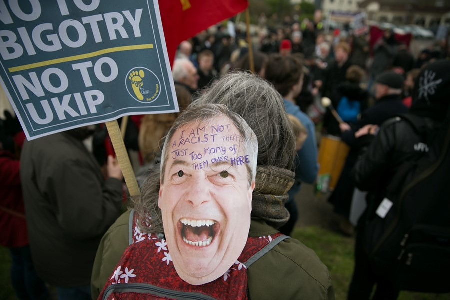 Anti-Nigel Farage UKIP Spring Conference Protest Margate