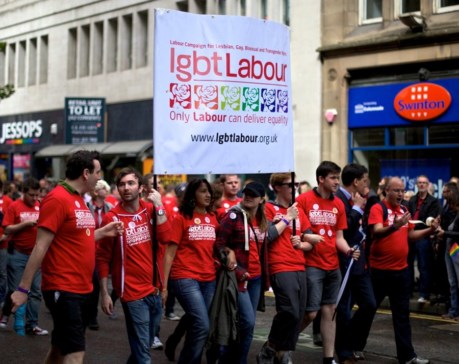 Pete Birkinshaw Labour LGBT Gay Pride March