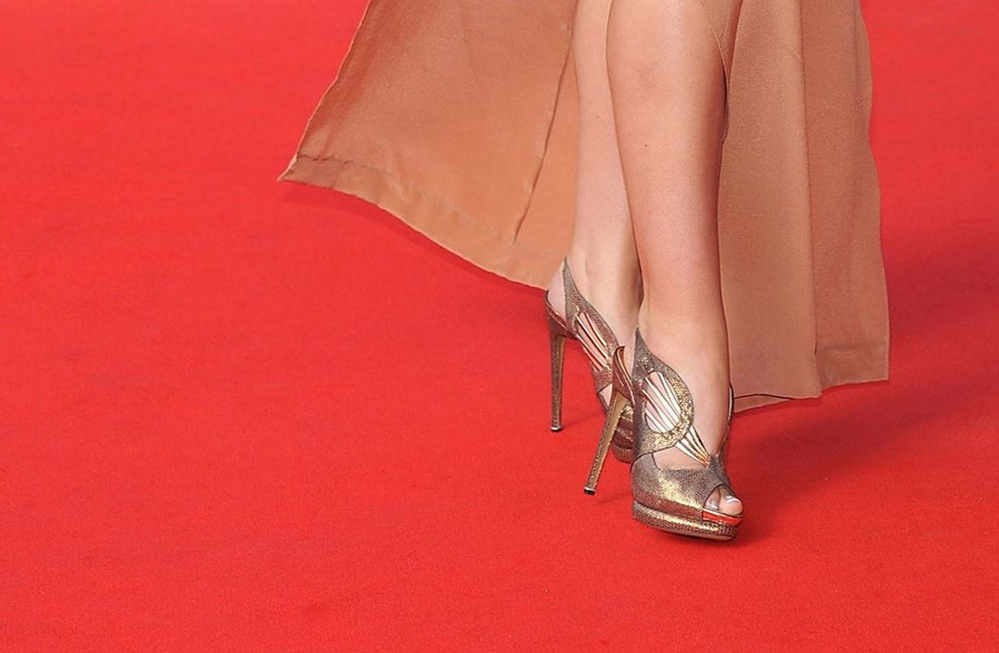 Red carpet high heels