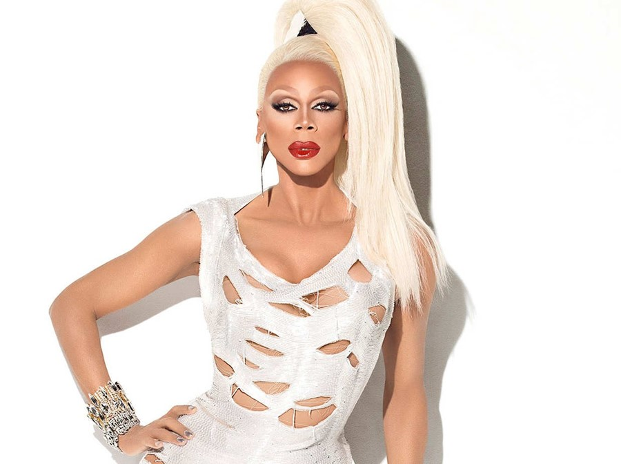Rupaul with ponytail