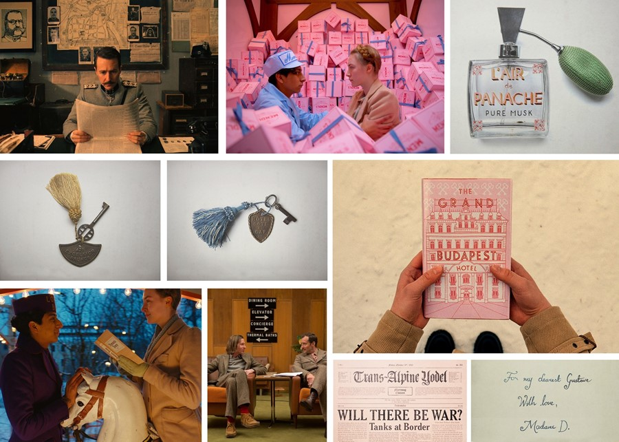 Wes Anderson Grand Budapest hotel collage Annie Atkins