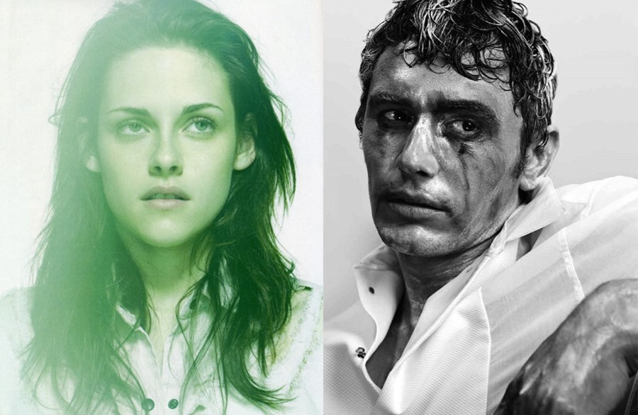 James Franco and Kristen Stewart