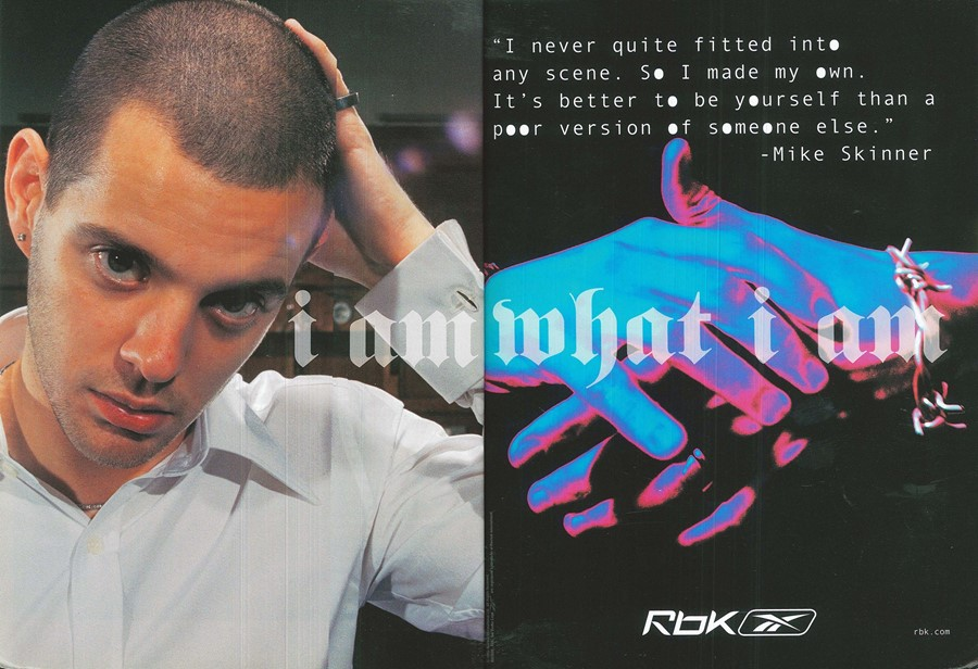 Reebok advert, taken from the October 2005 issue of Dazed