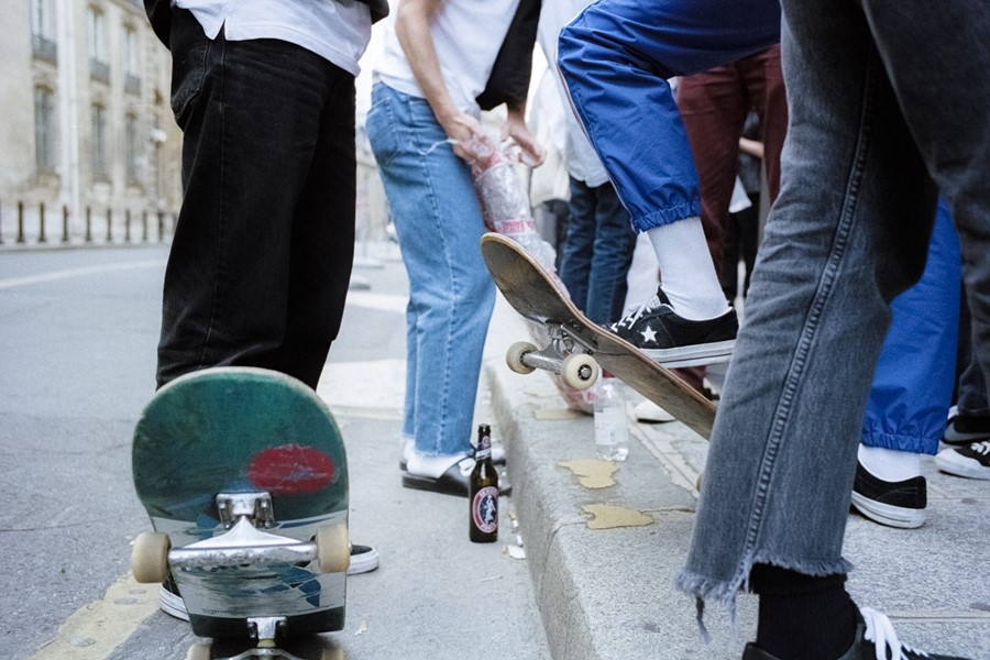 Hanging with skaters and models on the streets of Paris