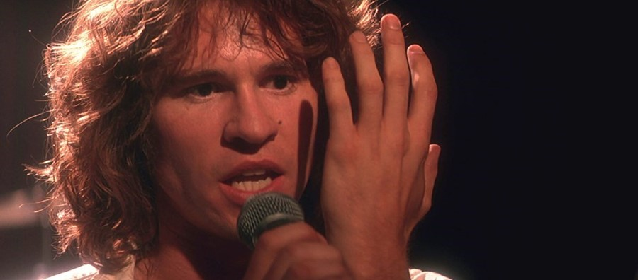 Val Kilmer as Jim Morrison in Oliver Stone's movie about Jim Morrison and The Doors called The Doors although it's really Oliver Stone's movie about Jim Morrison and not so much The Doors even though it's a movie called The Doors starring Val Kilmer as Jim Morrison